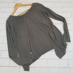 Millau Gray Open Back Sweater